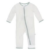 KicKee Pants Fitted Coverall - Natural with Aloe  (ZIPPER) *CLEARANCE*