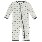 KicKee Pants Fitted Coverall - Natural Snails