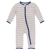 KicKee Pants Fitted Coverall - Everyday Heroes Multi Stripe