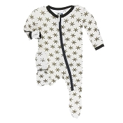 KicKee Pants Footie - Natural Star Anise (ZIPPER)