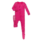 KicKee Pants Footie - Prickly Pear Mini Seahorse (Zipper)
