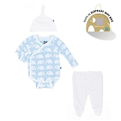 Kickee Pants Essentials Kimono Newborn Gift Set w/ Box - Pond Elephant *CLEARANCE*