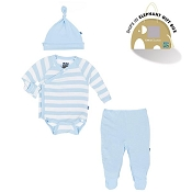 Kickee Pants Essentials Kimono Newborn Gift Set w/ Box - Pond Stripe *CLEARANCE*
