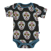KicKee Pants Print Short Sleeve One-Piece - Dia de los Muertos