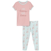 KicKee Pants Short Sleeve Pajama Set - Fresh Air Ballet