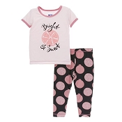 KicKee Pants Print Short Sleeve Pajama Set - Zebra Pomegranate *CLEARANCE*