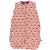 Kickee Pants Quilted Sleeping Bag - Print Quilted Sleeping Bag in Blush Rainbow/Berry
