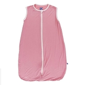 Kickee Pants Solid Lightweight Sleeping Bag in Desert Rose with Macaroon