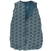 Kickee Pants Quilted Sleeping Bag - Print Quilted Sleeping Bag in Dusty Sky Happy Tornado/Heritage Blue Wind