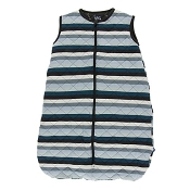 Kickee Pants Quilted Sleeping Bag - Print Quilted Sleeping Bag in Meteorology Stripe/Zebra Lightning