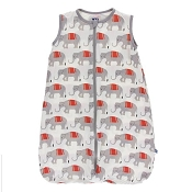 Kickee Pants Print Lightweight Sleeping Bag in Natural Indian Elephant