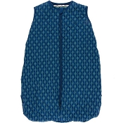 Kickee Pants Quilted Sleeping Bag - Print Quilted Sleeping Bag in Navy Leaf Lattice/Botany Grasshopper Stripe