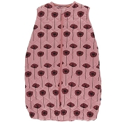Kickee Pants Quilted Sleeping Bag - Print Quilted Sleeping Bag in Strawberry Poppies/Botany Red Ginger Stripe