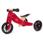 *Kinderfeets 2-in-1 Tiny Tot Balance Bike - Cherry Red