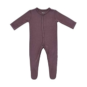 Kyte Baby Snap Footie - Cocoa