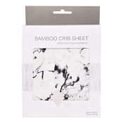 *Kyte Baby Printed Crib Sheet - Charcoal Marble