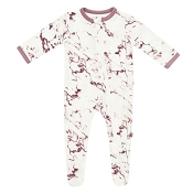 Kyte Baby Zippered Footie - Mulberry Marble