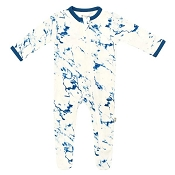 Kyte Baby Zippered Footie - Sapphire Marble