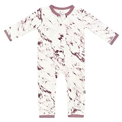Kyte Baby Zippered Romper - Mulberry Marble