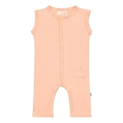 Kyte Baby Snap Sleeveless Romper - Papaya