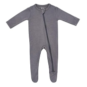 Kyte Baby Zippered Footie - Charcoal
