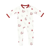 Kyte Baby Zippered Footie - Holly Berry (Size 0-3 Months)