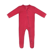Kyte Baby Zippered Footie - Ruby (Size Newborn)