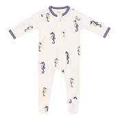 Kyte Baby Zippered Footie - Sea Horse