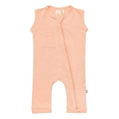 Kyte Baby Zipper Sleeveless Romper - Papaya