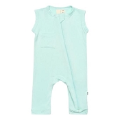 Kyte Baby Zipper Sleeveless Romper - Sea Mist