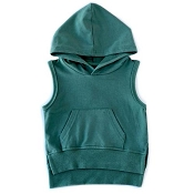 Little Bipsy Collection Sleeveless Hoodie - Sage (Size 0-3 Months)