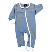 Little Bipsy Collection 2-Way Zip Romper - Ash Blue