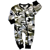 Little Bipsy 2-Way Zip Romper - Camo