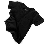 Little Bipsy Bamboo Pocket Tee - Black