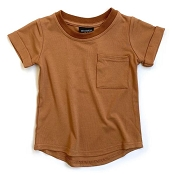 Little Bipsy Bamboo Pocket Tee - Rust