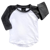 Little Bipsy Collection BaseBall Tee - Brushed Black *CLEARANCE*
