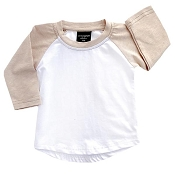Little Bipsy Collection BaseBall Tee - Brushed Blush