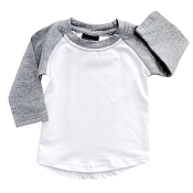 Little Bipsy Collection BaseBall Tee - Brushed Grey *CLEARANCE*