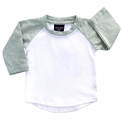 Little Bipsy Collection BaseBall Tee - Brushed Sage *CLEARANCE*