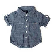 Little Bipsy Collection Denim Button-Up - Dark Wash