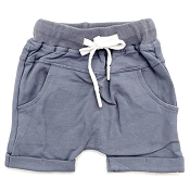Little Bipsy Rolled Harem Shorts - Ash Blue