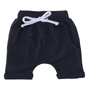 Little Bipsy Collection Rolled Harem Shorts - Black