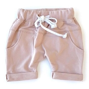 Little Bipsy Collection Rolled Harem Shorts - Blush
