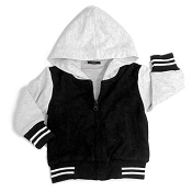 Little Bipsy Collection Hooded Sports Jacket - Black/Grey