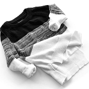 Little Bipsy Knit Sweater - Monochrome