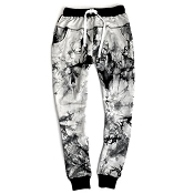 *Little Bipsy Women's Joggers - Black Tie Dye