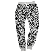 *Little Bipsy Collection Women's Joggers - Grey Leopard