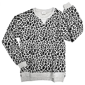 *Little Bipsy Collection Women's Pullover - Grey Leopard