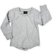 Little Bipsy Collection Long Sleeve Basic Tee - Grey
