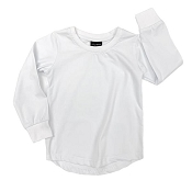 Little Bipsy Collection Long Sleeve Basic Tee - White